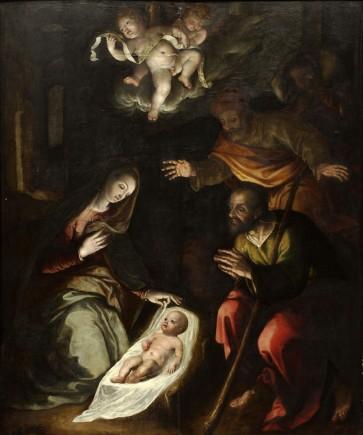 Nacimiento de Jesús y Adoración de los pastores, Rolan de Mois, ca. 1585-1590. Foto: José Garrido. Museo de Zaragoza.