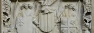Escudo de armas de la Diputación del Reino de Aragón. Arenisca. Franci Gomar y Fortaner de Usesques. 1448-1449. Inv. 11147.