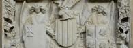 Escudos de armas de la Diputación del reino de Aragón. Piedra Arenisca. 1448-1449. Atribuido a Franci Gomar. Inv. 11148.