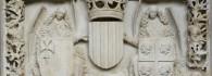 Escudos de armas de la Diputación del reino de Aragón. Piedra Arenisca. 1448-1449. Atribuido a Franci Gomar. Inv. 11147.