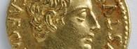 Áureo de Augusto. Corduba (Córdoba), anverso. Oro. Roma. 19-18 a.E. Inv. 52770.
