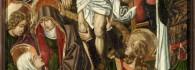 Descendimiento. Retablo de la Santa Cruz. Óleo sobre tabla. Miguel Jimenez y Martin Bernart. Gótico Hispanoflamenco. Hacia 1481-1487. Iglesia de Blesa. Teruel. Inv. 10021.