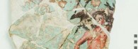Hércules con la clava y el Jabalí de Erimanto. Pintura mural al temple. 40-30 a.E. Colonia Celsa (Velilla de Ebro, Zaragoza). Inv. 52258.