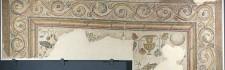 Mosaico con crismón. Mármol, piedra caliza y vidrio. 360-375. Villa Fortunatus (Fraga, Huesca). Inv. 07622.