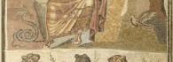 Mosaico de Orfeo. Mármol, piedra caliza y vidrio. 190-220. Colonia Caesar Augusta (Zaragoza). Inv. 07588.