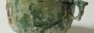 Skyphos. Cerámica vidriada. Taller centroitálico. 41-54. Colonia Celsa (Velilla de Ebro, Zaragoza). Inv. 48735.