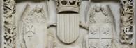 Escudo de armas de la Diputación del Reino de Aragón. Arenisca. Franci Gomar y Fortaner de Usesques. 1448-1449. Inv. 11148.