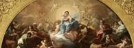 La Virgen con el niño rodeada de santos. Óleo sobre lienzo. Corrado Giaquinto. Hacia 1750-1753. Inv. 54238.