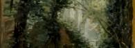 Cascada del Monasterio de Piedra. Óleo sobre tabla. Carlos de Haes. Hacia 1872-73. Inv. 10403.