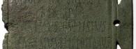 Tabula ansata con inscripción latina. Bronce. Siglos I-II. Turiaso (Tarazona, Zaragoza). Inv. 54222.