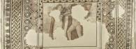 Mosaico con Eros y Psique. Piedra caliza. 360-375. Villa Fortunatus (Fraga, Huesca). Inv. 07623.