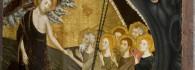 Descenso a los infiernos. Retablo de la Resurrección. Temple sobre tabla. Jaime Serra. Gótico. Hacia 1361-62. Monasterio del Santo Sepulcro. Zaragoza. Inv. 10005.
