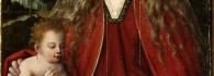 Virgen con el niño. Óleo sobre tabla. Maestro de la Magdalena Mansi. Renacimiento. Primer tercio del siglo XVI. Convento de San Lamberto. Zaragoza. Inv. 9205.