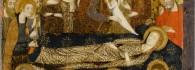 Dormición de la Virgen María, retablo de la Resurrección, temple sobre tabla, Jaime Serra, hacia 1361-62, monasterio de la Resurrección del Santo Sepulcro, Zaragoza, Inv. 10008