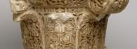 Capitel. Alabastro. Hispano-musulmán. 1065-1075. Palacio de la Aljafería. Saraqusta (Zaragoza). Inv. 7558.