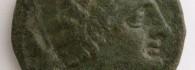 As de Sekaisa (Mara, Zaragoza), anverso. Bronce. Cultura celtibérica. 170-153 a.E. Inv. 53024.