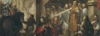 La conversión del Duque de Aquitania. Óleo sobre lienzo. Vicente Berdusán. Barroco. 1673. Inv. 35261.