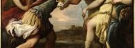 Céfalo y Procris ante Diana. Óleo sobre lienzo. Luca Giordano. Hacia 1695. Barroco. Inv. 54239.