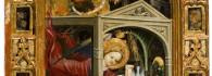 Anunciación. Temple sobre tabla. Marzal de Sas. Gótico. Hacia 1393-1410. La puebla de Castro. Huesca. Inv. 10016.