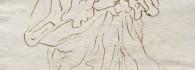 San José con el niño. Pluma sobre papel verjurado. Hacia 1676-1700. Inv. 11011.