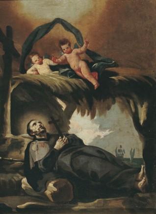 Muerte de San Francisco Javier. Óleo sobre lienzo. Francisco de Goya y Lucientes. Hacia 1771-1774. Inv. 9261.