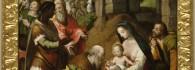 Adoración de los Reyes Magos. Óleo sobre tabla. Pablo Scheppers. Renacimiento. Hacia 1580-1585. Inv. 10099.