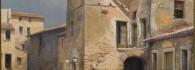 Plaza de Antícoli Corrado. Óleo sobre lienzo. Mariano Barbasán Lagueruela. 1922. Inv. 10084.