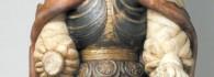 Ángel custodio. Alabastro policromado. Pere Johan. Gótico. Hacia 1435-1445. Inv. 9190.