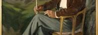 Retrato de Don Santiago Martínez Marco en el balneario de Panticosa. Óleo sobre lienzo. Alberto Duce Baquero. 1945. Inv. 54226.