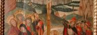 Calvario. Óleo sobre tabla. Juan de la Abadía. Gótico. Hacia 1490. Inv. 10040.