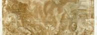 Martirio de San Lorenzo. Pluma y aguada sobre papel. Renacimiento. Último cuarto siglo XVI. Inv. 10607. Depósito Real Academia de San Luis.