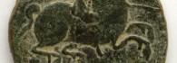 As de Turiasu, (Tarazona, Zaragoza), reverso. Bronce. Cultura celtibérica .125-50 a.E. Inv. 54245.