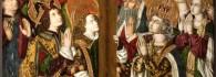 Adoración de la Santa Cruz. Retablo de la Santa Cruz. Óleo sobre tabla. Miguel Jiménez y Martín Bernalt. Gótico Hispanoflamenco. Hacia 1481-1487. Iglesia de Blesa. Teruel. Inv. 10025.