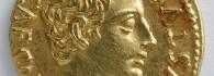 Áureo de Augusto. Corduba (Córdoba). Anverso. Oro. Roma. 19-18 a.E. Inv. 52770.