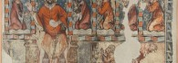 La Comunión de los Reyes de Aragón. Temple sobre muro. Maestro de San Miguel de Daroca. Gótico. Siglo XIV. Iglesia de San Miguel de Daroca. Inv. 09187.