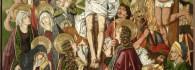 Crucifixión. Retablo de la Santa Cruz. Óleo sobre tabla. Miguel Jiménez y Martín Bernat. Gótico Hispanoflamenco. Hacia 1481-1487. Iglesia de Blesa. Teruel. Inv. 10024.