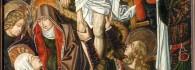 Descendimiento. Retablo de la Santa Cruz. Óleo sobre tabla. Miguel Jiménez y Martín Bernat. Gótico Hispanoflamenco. Hacia 1481-1487. Iglesia de Blesa. Teruel. Inv. 10043.