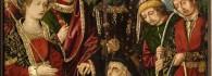 Interrogación del judío. Retablo de la Santa Cruz. Óleo sobre tabla. Miguel Jiménez y Martín Bernat. Gótico Hispanoflamenco. Hacia 1481-1487. Iglesia de Blesa. Teruel. Inv. 10022.