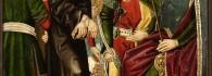 Jesús ante Caifas. Retablo de la Santa Cruz. Óleo sobre tabla. Miguel Jiménez y Martín Bernat. Gótico Hispanoflamenco. Hacia 1481-1487. Iglesia de Blesa. Teruel. Inv. 10020.