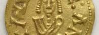 Tremissis de Recaredo. Cesaracosta (Zaragoza), reverso. Oro. Reino visigodo de Toledo. 586-601. Inv. 54252.