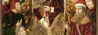 Santa Elena reunida con los judíos. Retablo de la Santa Cruz. Óleo sobre tabla. Miguel Jiménez y Martin Bernat. Gótico Hispanoflamenco. Hacia 1483-87. Iglesia de Blesa . Teruel. Inv. 10030.