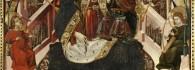 María Reina de los cielos. Temple sobre tabla. Blasco de Grañén. Gótico. Hacia 1437-1439. Iglesia de Santa María la Mayor. Albalate del Arzobispo. Teruel. Inv. 10037.