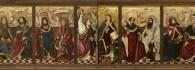Apostolado y Anunciación. Banco del retablo de la Santa Cruz. Miguel Jiménez y Martín Bernat. Gótico. Hacia 1483-1487. Iglesia de Blesa. Teruel. Inv. 10023.