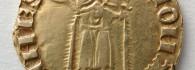 Florín de Pedro IV. Zaragoza, anverso. Oro. Reino de Aragón. 1369-1372. Inv. 08703.