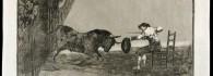 La Tauromaquia. Temeridad de Martincho en la plaza de Zaragoza. Estampa. Aguafuerte sobre papel. Francisco de Goya y Lucientes.1ª edición 1816. Inv. 28191.