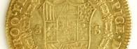 Ocho escudos de Carlos IV, reverso. Perú. Oro. 1804. Inv. 08547.