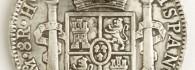 Ocho reales de Fernando VII, reverso. Méjico. Plata. 1810. Inv. 08860.