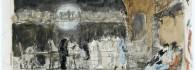 Boceto del cuadro la vicaría. Acuarela sobre papel. Mariano Fortuny. Hacia 1870. Inv. 15242.