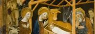 Natividad. Retablo de la Resurrección. Óleo sobre tabla. Jaime Serra. Gótico. Hacia 1361-62. Monasterio del Santo Sepulcro. Zaragoza. Inv. 10006.