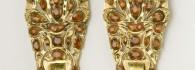 Pendientes de cabujón. Oro y aragonitos. Siglo XIX. Aragón. Inv. 54383